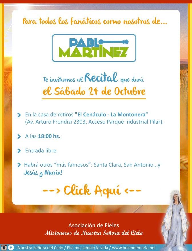 Invitacion Especial Pablo Martinez
