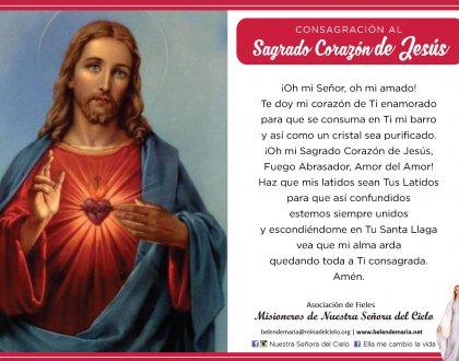 Consagración al Sagrado Corazón de Jesús 🙏