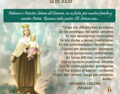 16 de Julio: día de la Virgen del Carmen