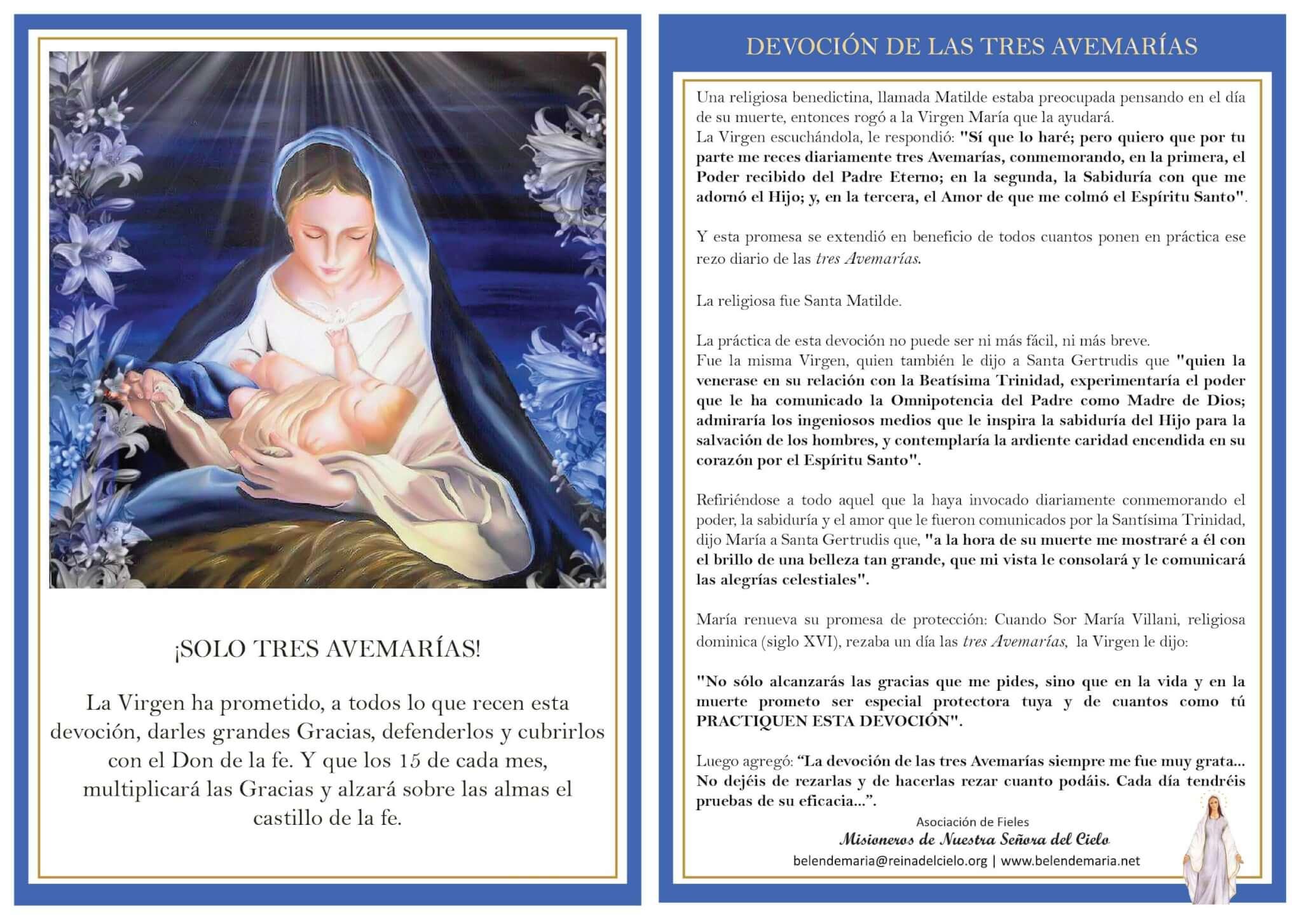 No te pierdas la Devoción de las Tres Avemarías
