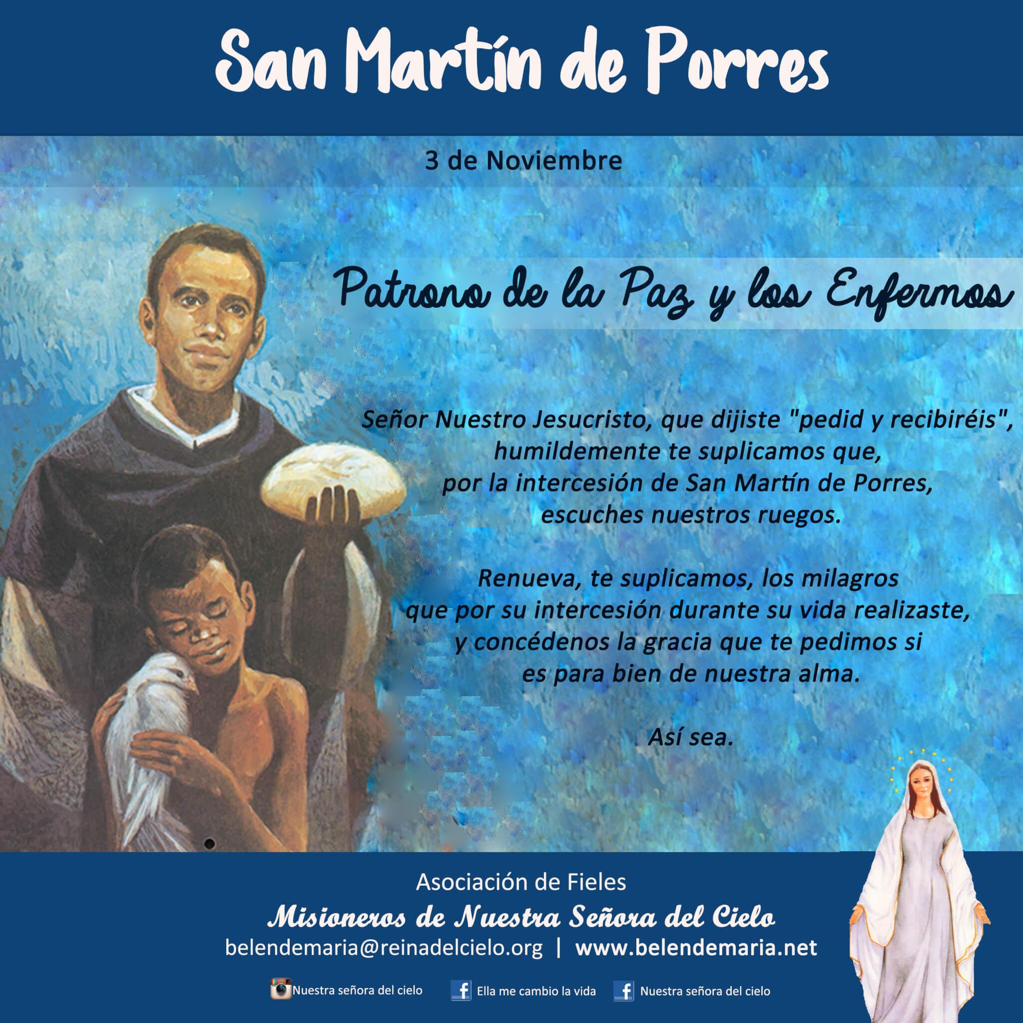 03 de Noviembre: San Martin de Porres