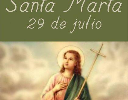 29 de julio: día de Santa Marta