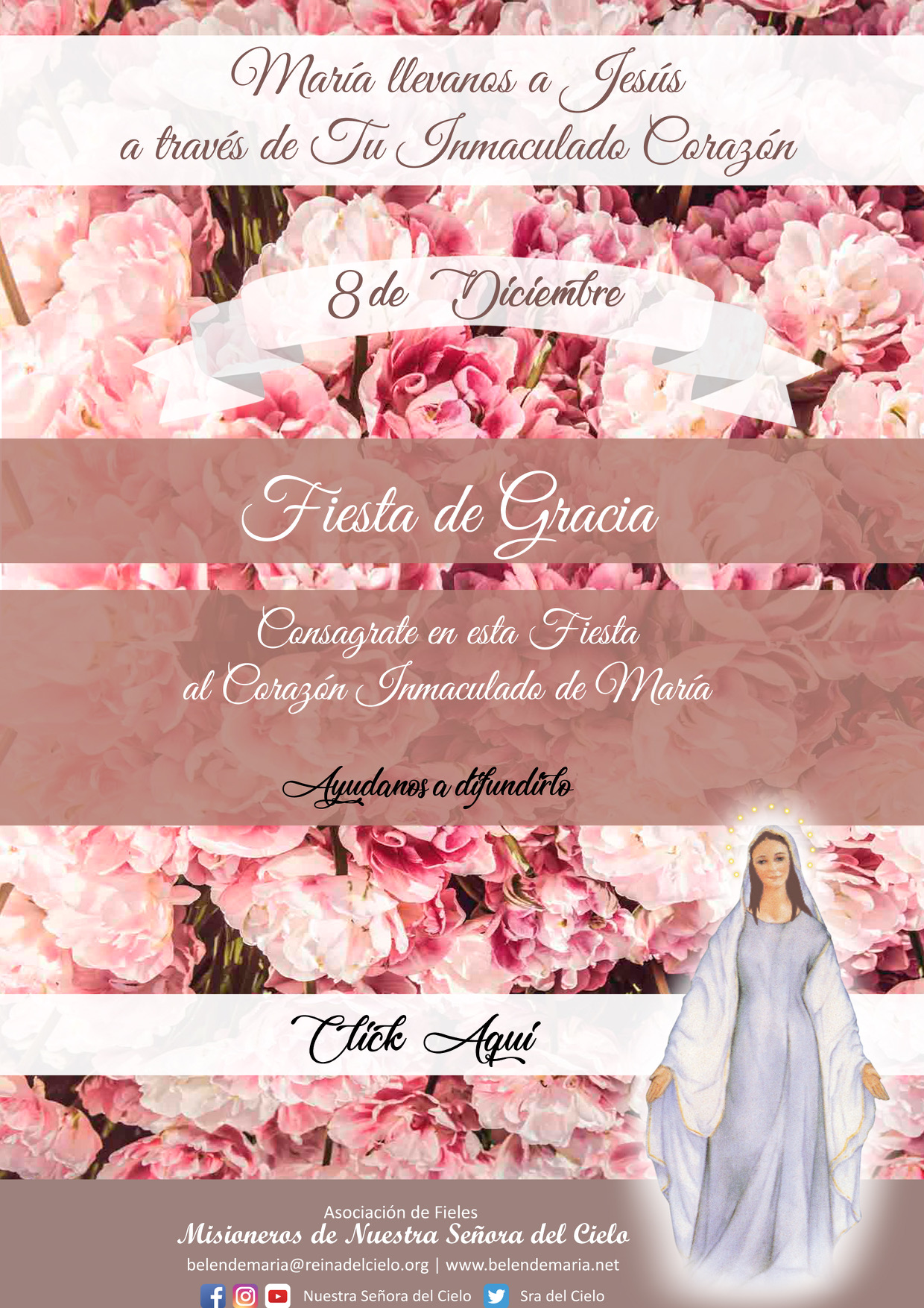 Consagración al Inmaculado Corazón de María 💗