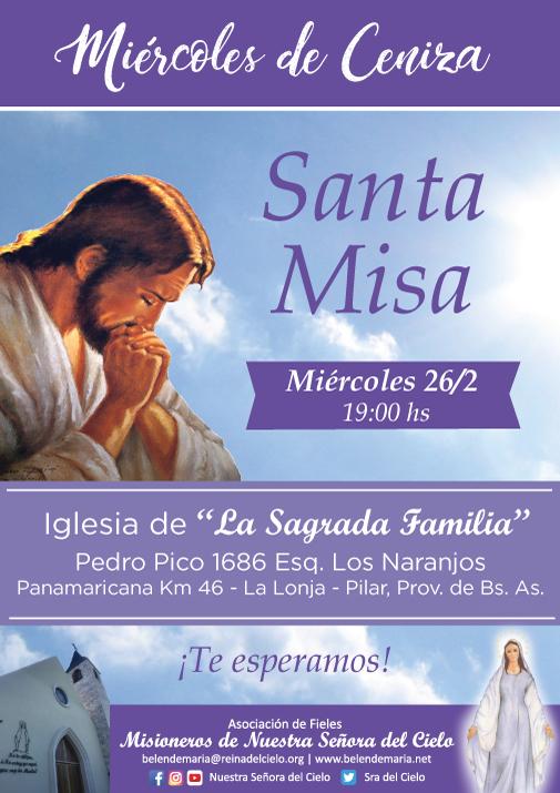 Jesús te espera en la Santa Misa para comenzar juntos este camino de Cuaresma